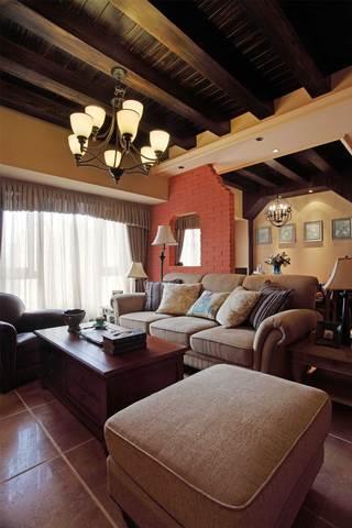 150平法式乡村风格装修沙发布置图