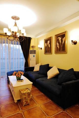 地中海混搭三居客厅装修效果图