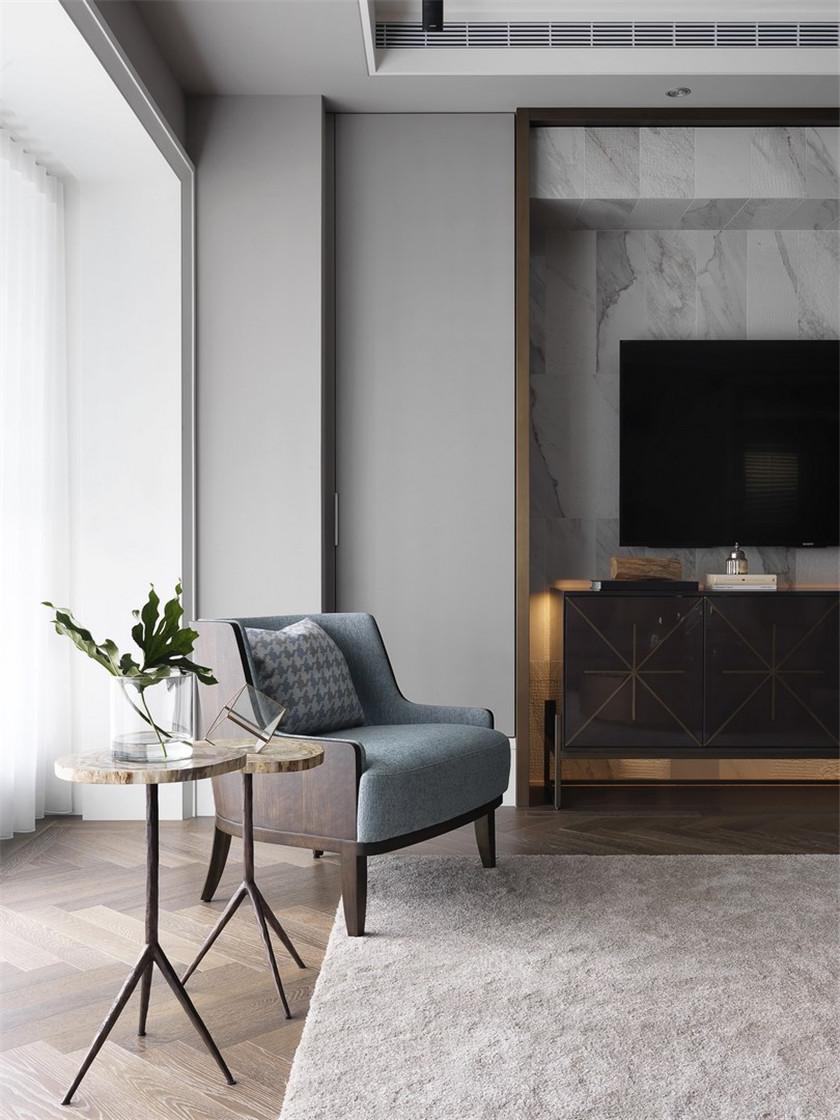 170平现代风格三居装修客厅休闲一角