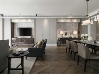 170平现代风格三居装修效果图