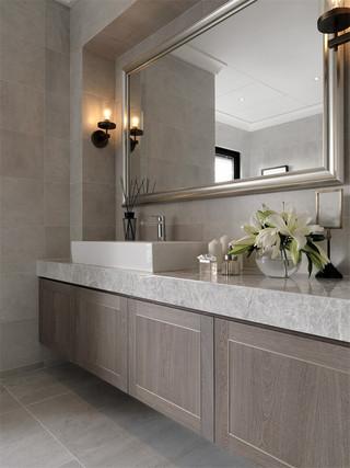 170平现代风格三居装修浴室柜设计图