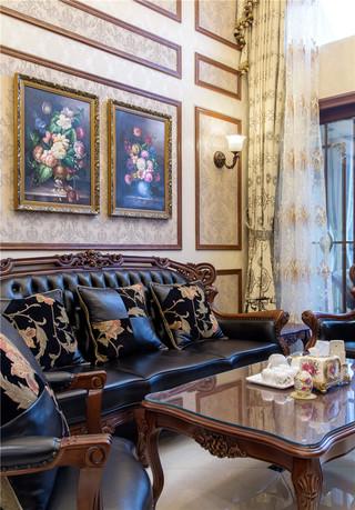 新古典美式风格别墅装修沙发布置图