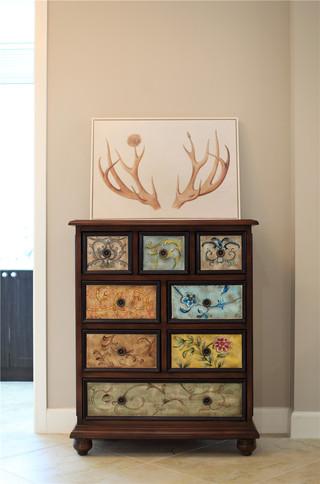 168平简美风格四居装修装饰柜效果图