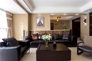 140平现代简约二居装修效果图