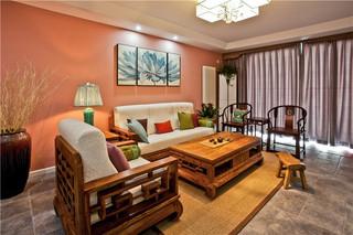 新中式混搭三居室装修效果图