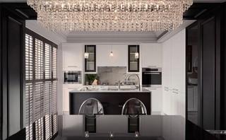 140平米三居室厨房装修设计图