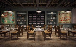 混搭风格西餐厅装修效果图