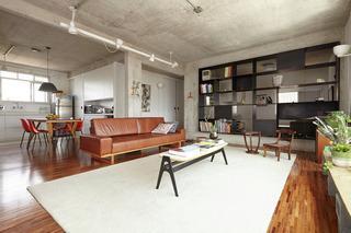 工业风格一居室装修客厅吊顶效果图
