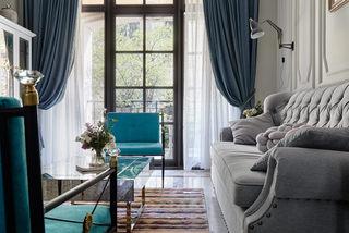 大户型法?#20132;?#25645;装修客厅窗帘设计图