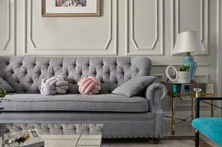 大户型法式混搭装修灰色沙发效果图