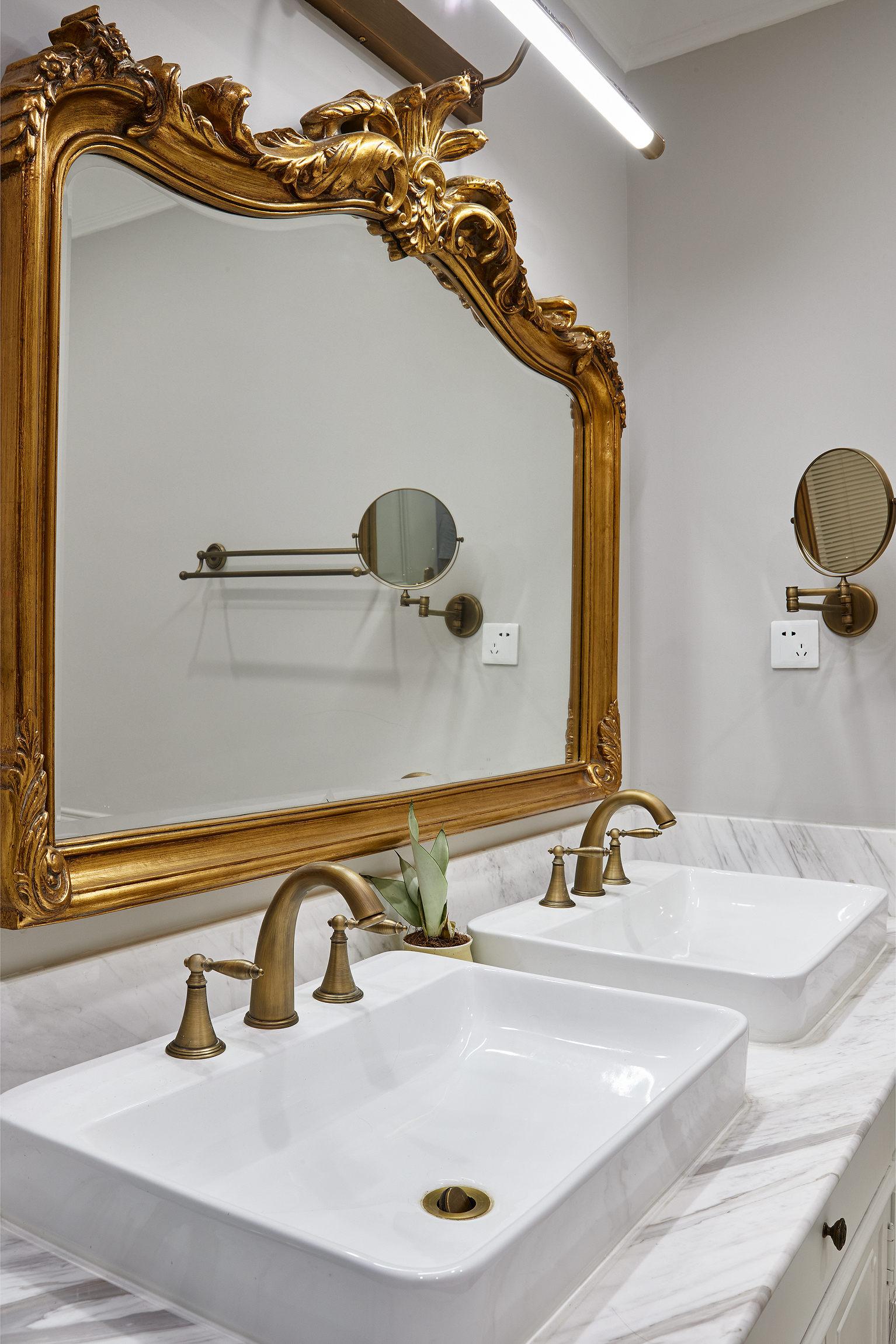 大户型法式混搭洗手台装修效果图