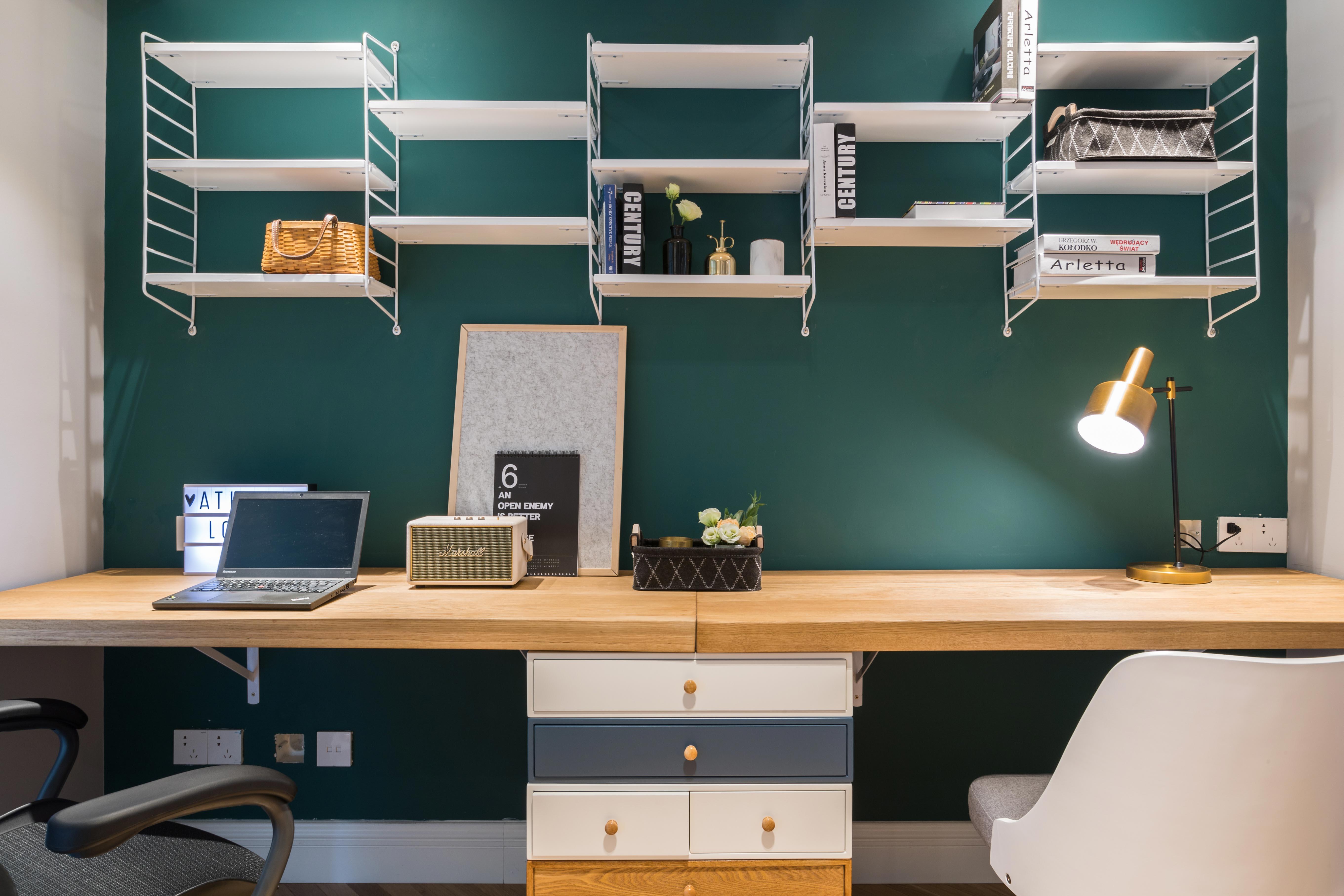 自然北欧风三居装修书桌设计图