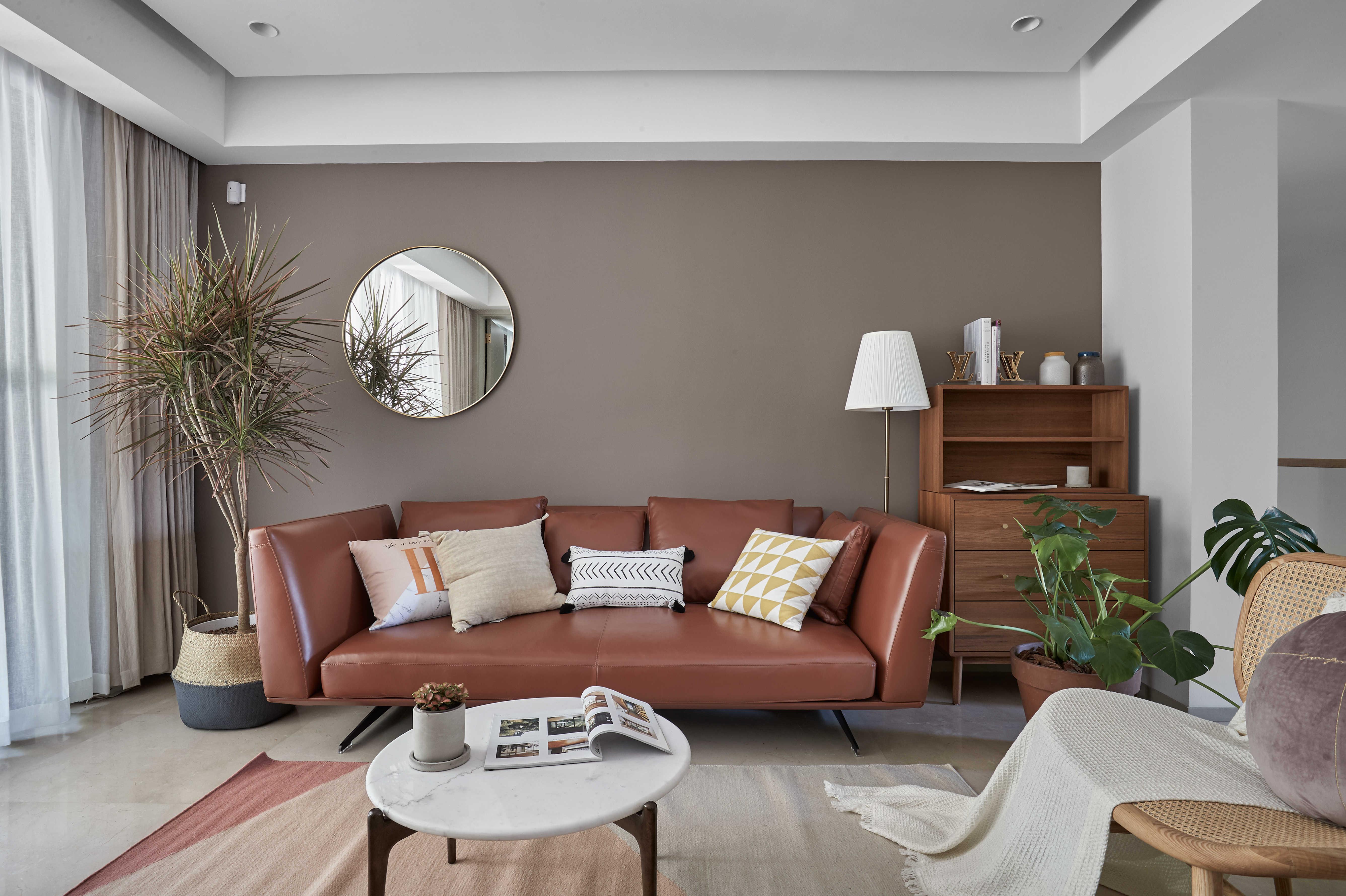 简约休闲三居室沙发背景墙装修效果图