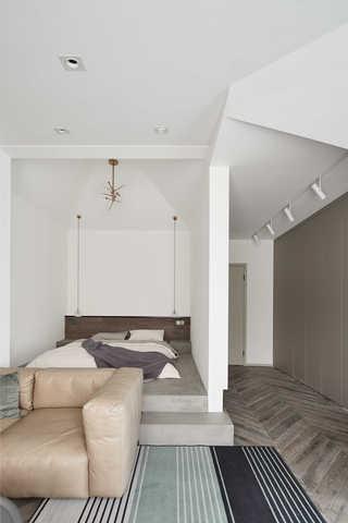 100平极简北欧风卧室地台装修设计图