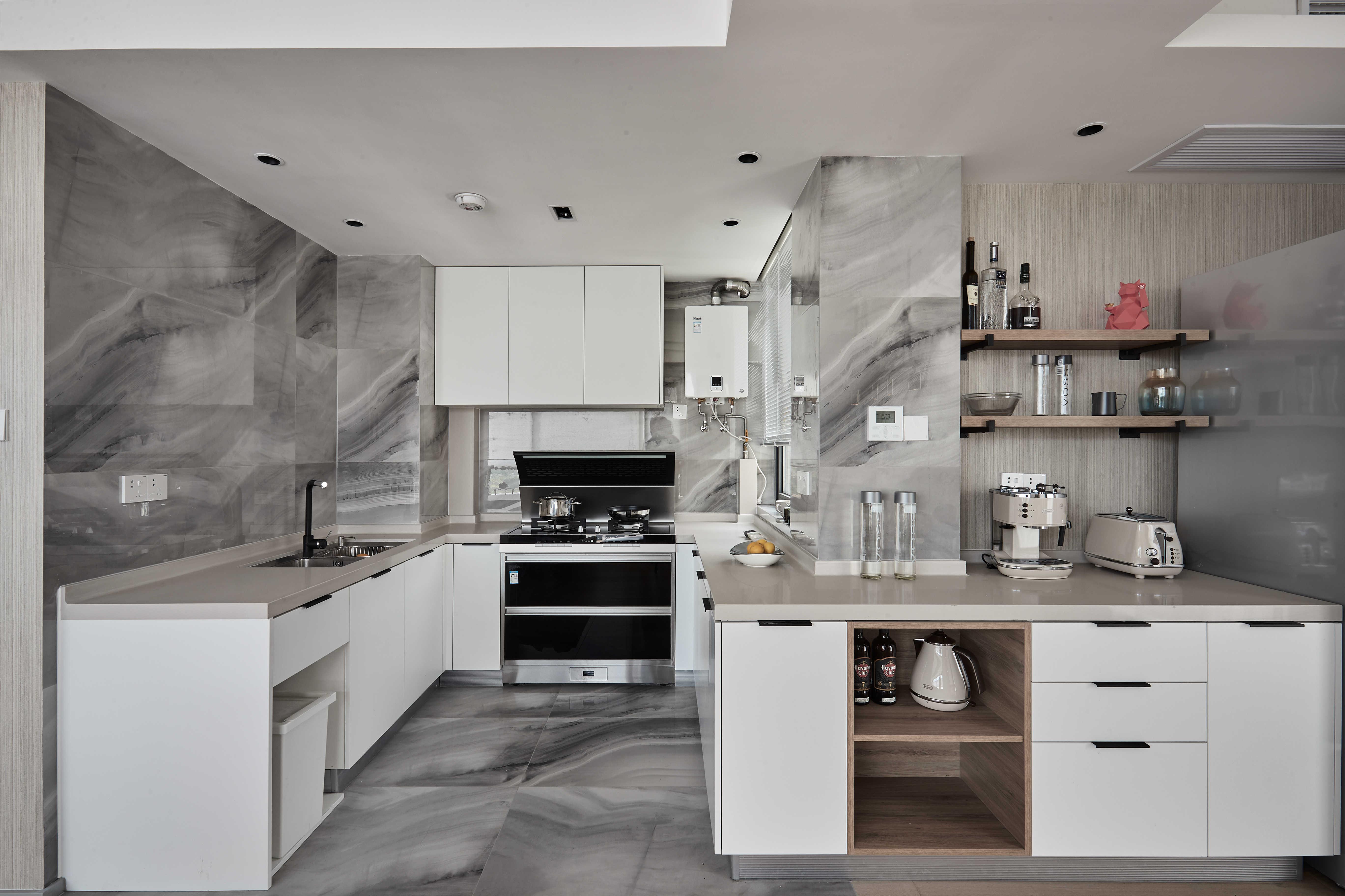 台式简约风二居厨房装修效果图