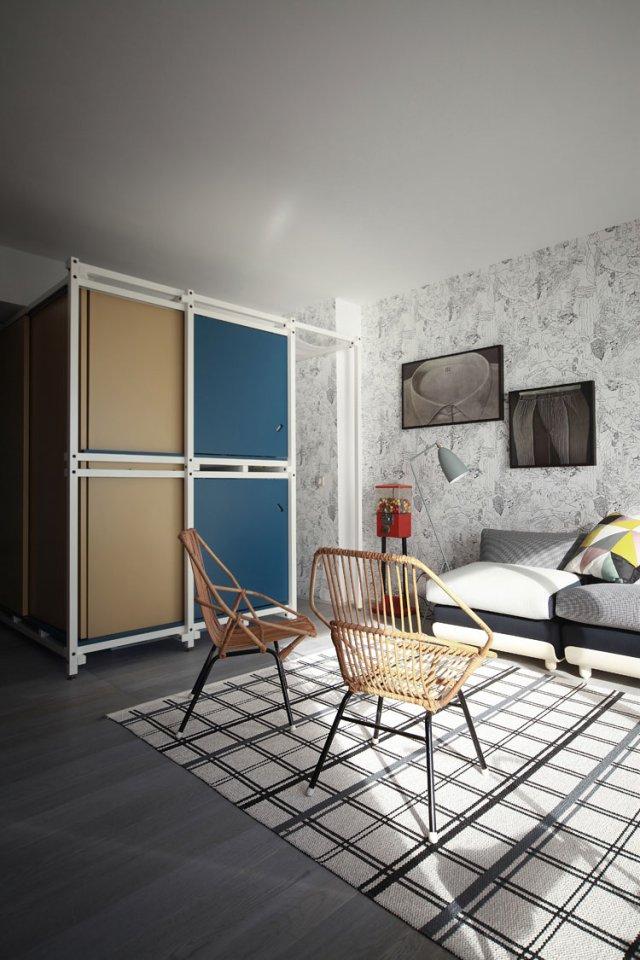 40㎡小户型公寓客厅装修效果图