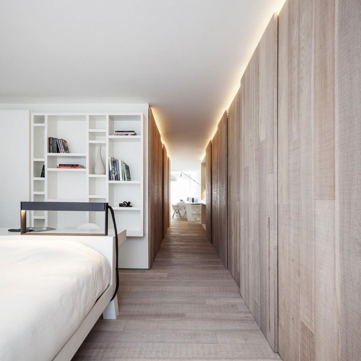 简约北欧风公寓装修书架设计图