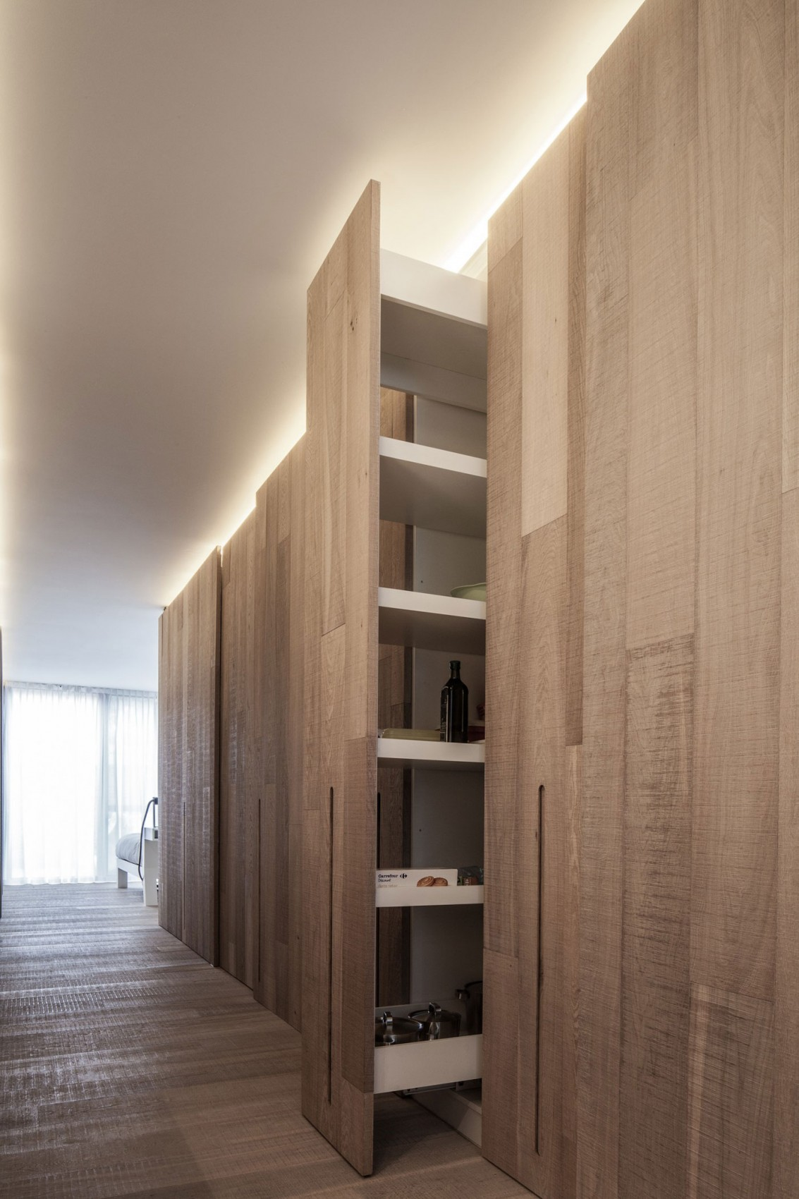 简约北欧风公寓装修隐形柜设计图