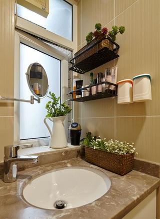 78平北欧二居装修洗漱台设计图