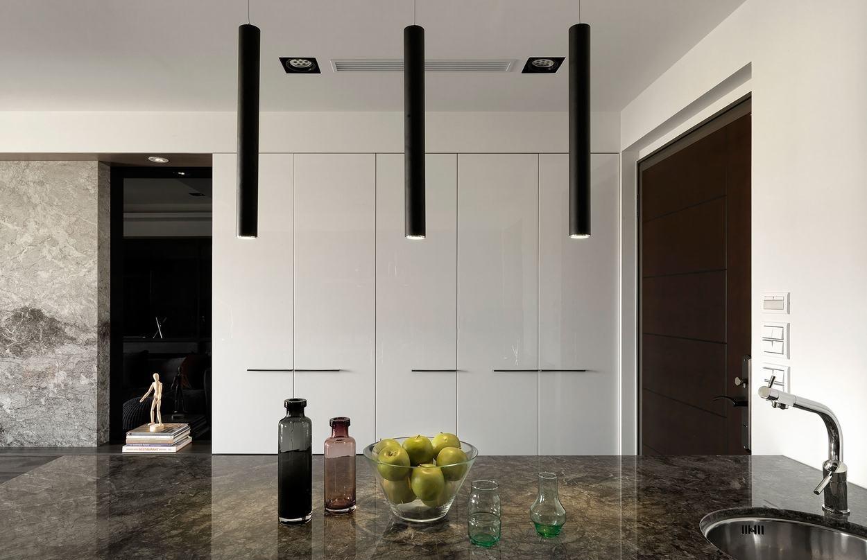后现代风格三居室装修吊灯效果图