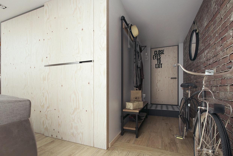 小户型Loft公寓玄关装修效果图
