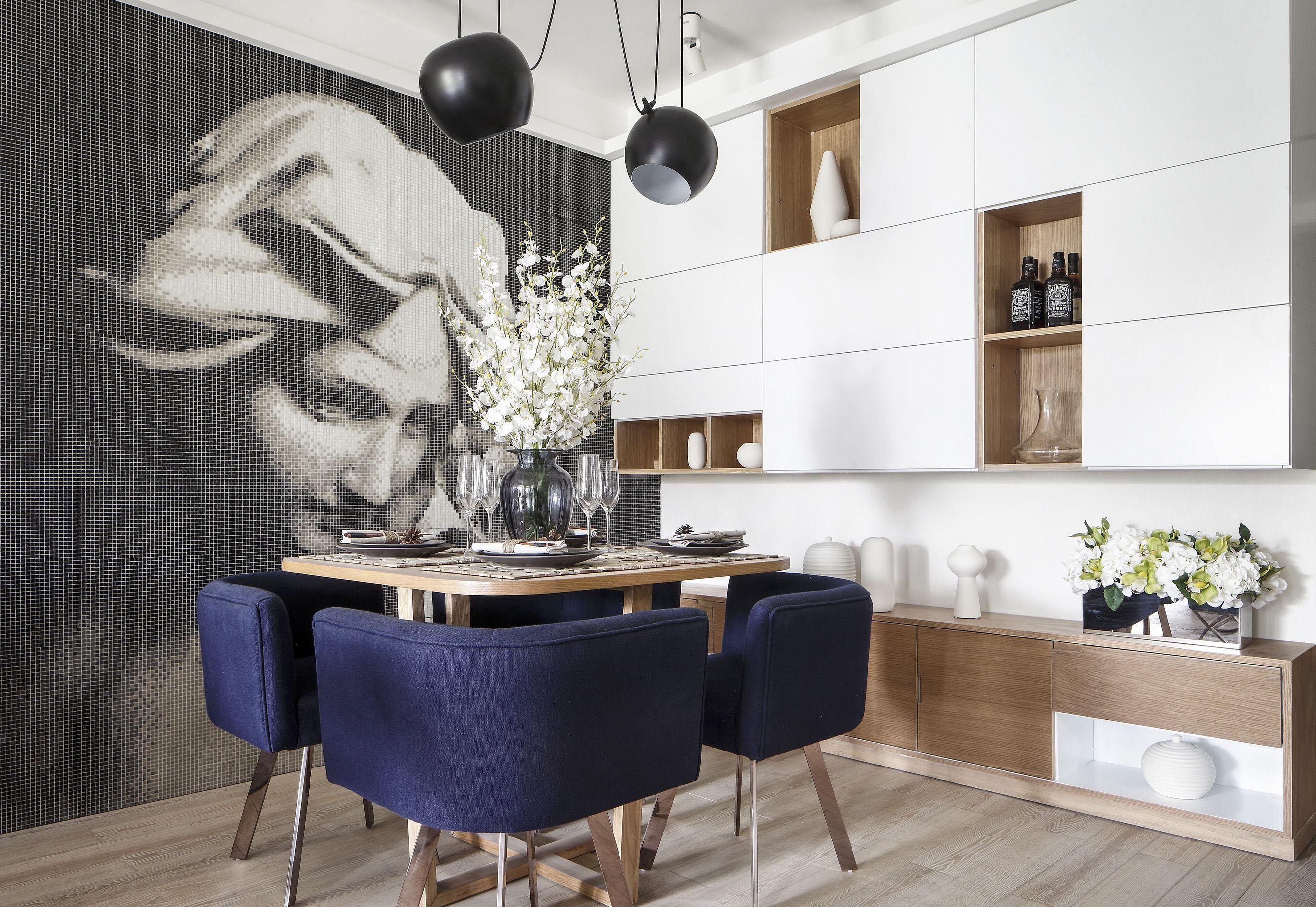 现代风格两居装修餐厅装修效果图