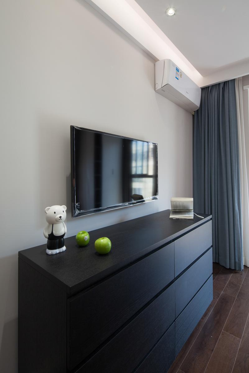 90平现代简约风格装修电视柜设计图