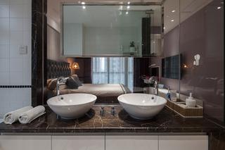 145平现代风格三居装修洗手台设计