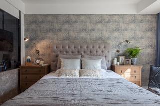 复古美式三居装修床头软包设计