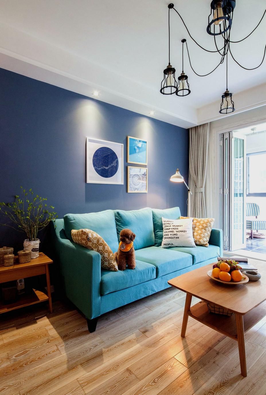 75平北欧风一居沙发背景墙装修效果图