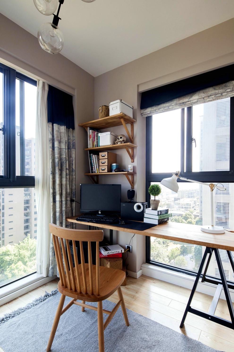 75平北欧风一居装修书桌设计