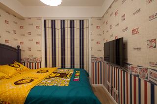 美?#20132;?#25645;三居室装修儿童房窗帘设计