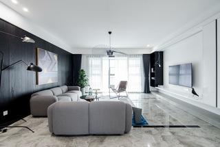现代简约大户型客厅吊顶装修效果图