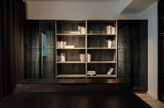 现代简约大户型装修书柜设计图