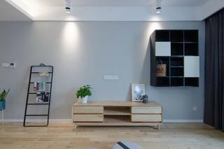 现代北欧风三居室装修电视柜设计