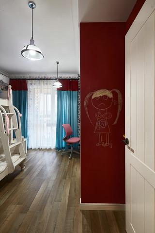 125㎡北欧风格三居儿童房装修设计图