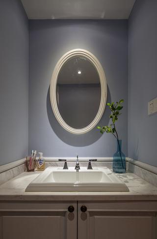 美式混搭三居室装修洗手台设计
