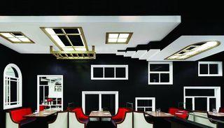 黑白调西餐厅装修设计图