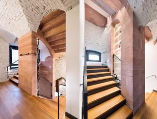 复古工业风星级酒店楼梯间设计图