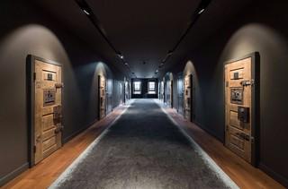 复古工业风星级酒店客房走廊设计图