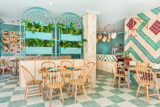 地中海风情美食店装修设计图
