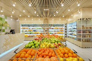 自然简约水果店装修效果图