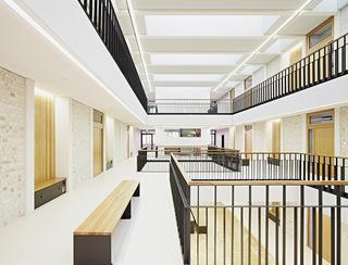 开放简约教学楼设计效果图