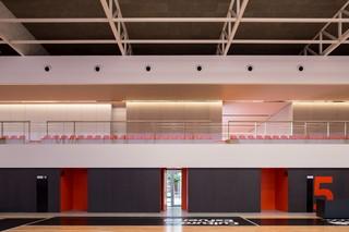 现代篮球馆看台设计效果图