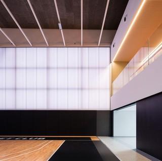 现代篮球馆局部设计效果图