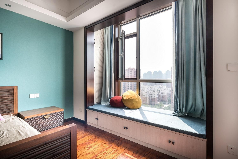 四居室新中式风格飘窗装修效果图