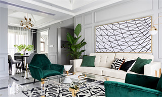 轻法式四居室装修效果图