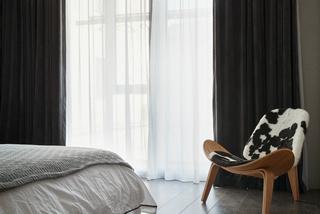 现代简约卧室窗帘装修效果图