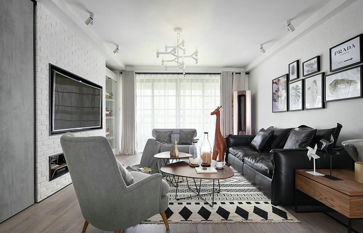 116㎡北欧风格客厅装修效果图
