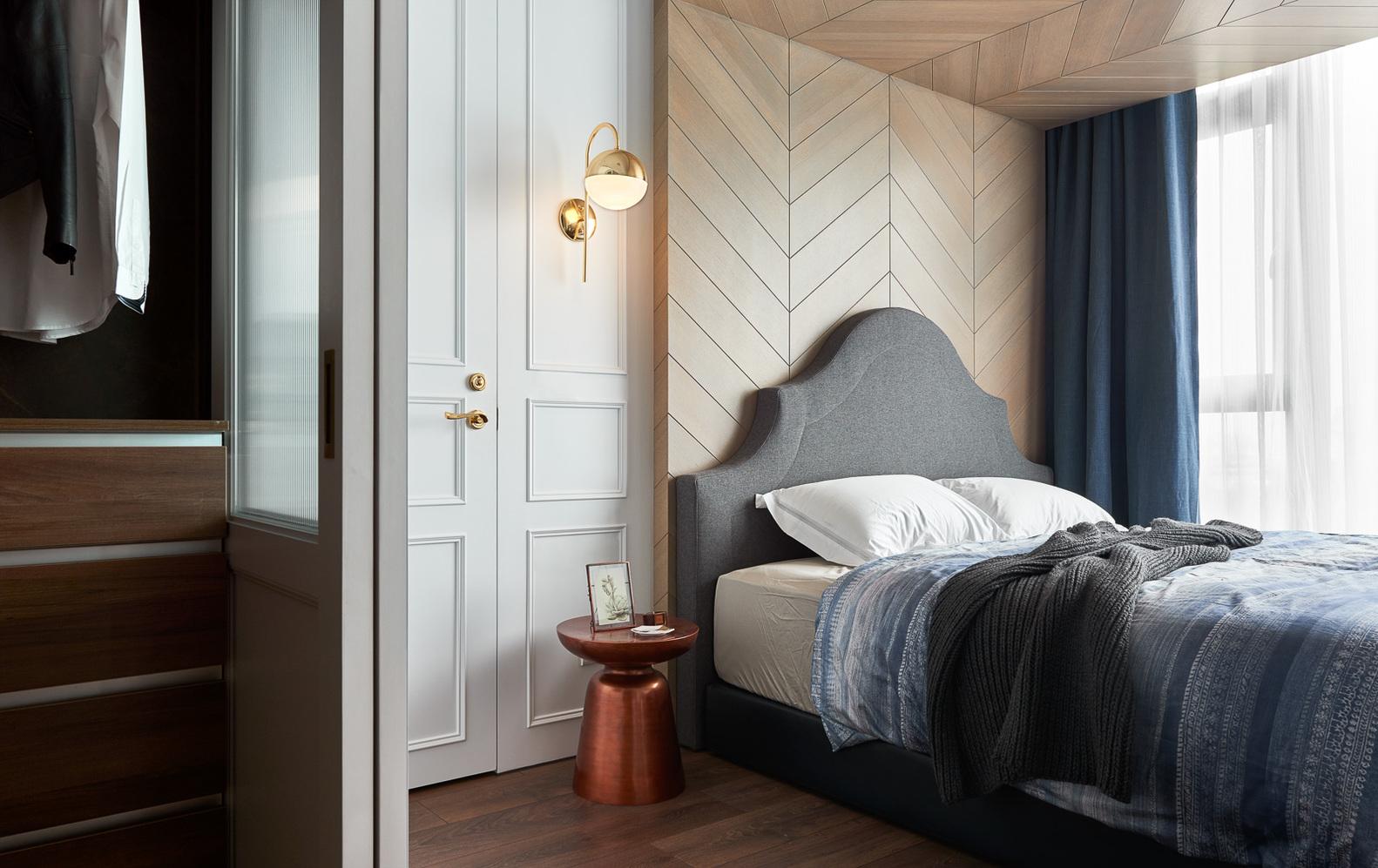 现代风格公寓卧室装修设计图